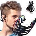 Barato nuevo bluetooth auriculares auriculares inalámbricos y auriculares + tarjeta tf con micrófono auriculares impermeables para correr y conducción