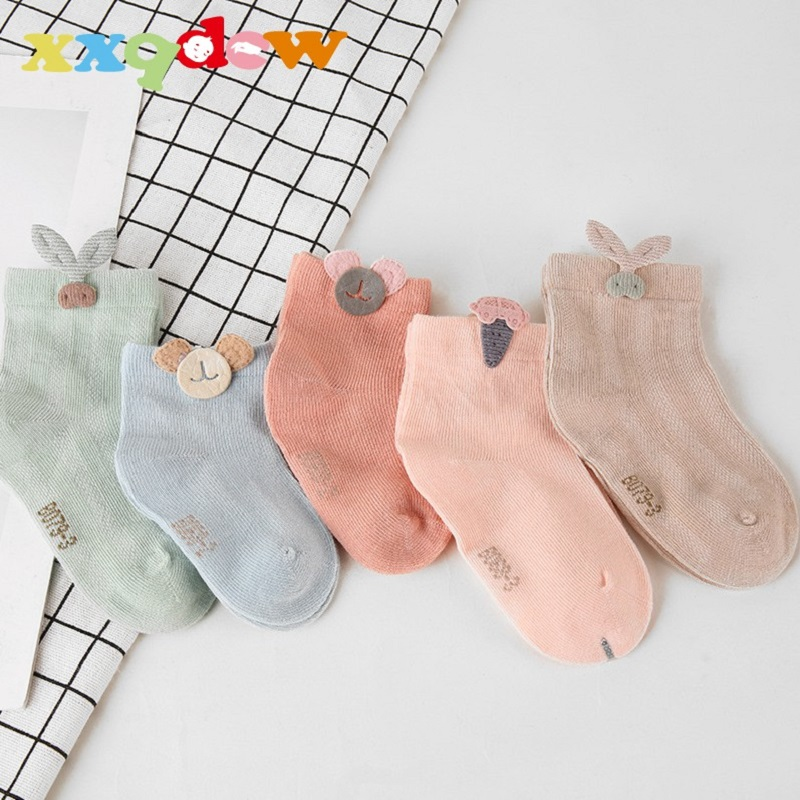 AiKway 3 Pairs/lot Children's Socks Boys Girls Newborn Fashion Cartoon Baby Socks Infant Candy Color Cotton Socks For Baby Gifts