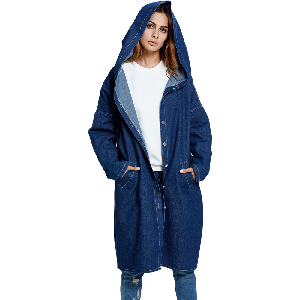 Belva 2017 New Winter Maternity Clothes Large Size Women Long Denim Jeans Jackets Loose Hooded Coats for Pregnant Women 772 new straight jeans autumn winter men s loose cowboy denim trousers plus size 28 44 46 48 man jeans bottoms