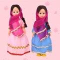 Новые Этнические Куклы Индийская Женщина Одежда Kid Этнические Куклы Горячие детский Подарок 7.5 inch Мини Куклы Международные Детские Игрушки 1003-003