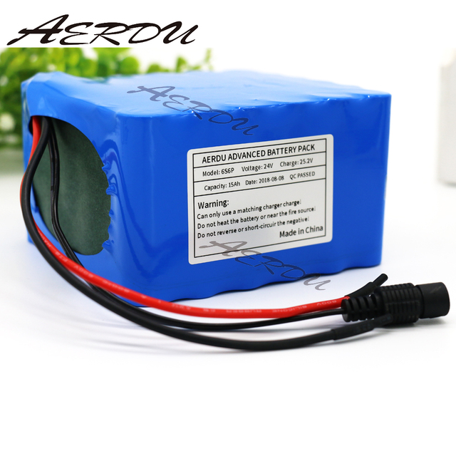 Lithium Battery Pack >> Us 82 95 16 Off Aerdu 6s6p 24v 15ah 25 2v 22 2v Lithium Battery Pack Batteries For Electric Motor Bicycle Ebike Scooter Wheelchair With 15a Bms In