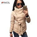 winter jacket women duck down coat 1950s 60s high collar with belt parkas for women winter 3 colors warm outerwear coats