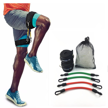 LEEASY Leg Running Resistance tubes Kinetic speed Strength Elasticas band exercise For Athletes Football basketball players fitness resistance bungee band with adjustable belt speed training tool for running training strength basketball and football