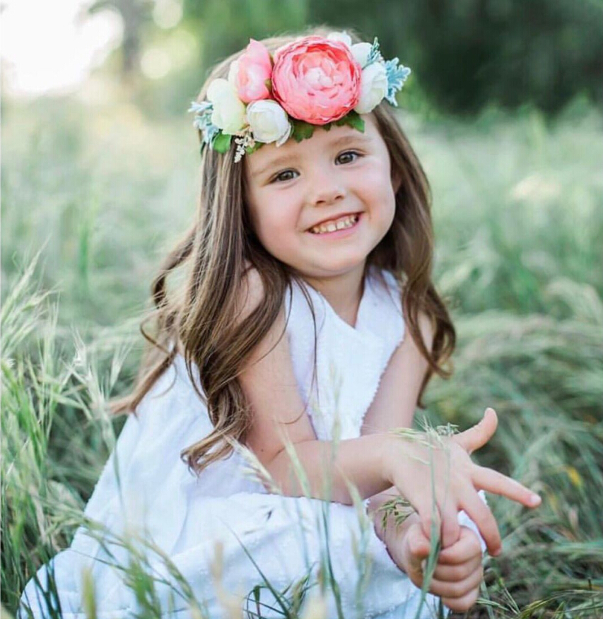Baby Kids Girls Flower Crown Garland Hair Band Accessories Party Floral Headband