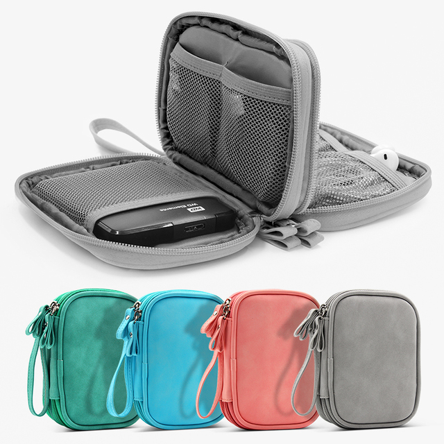 Waterproof oxford durable mobile power shockproof headphone data cable USB travel storage consolidation Hand clutch small bag