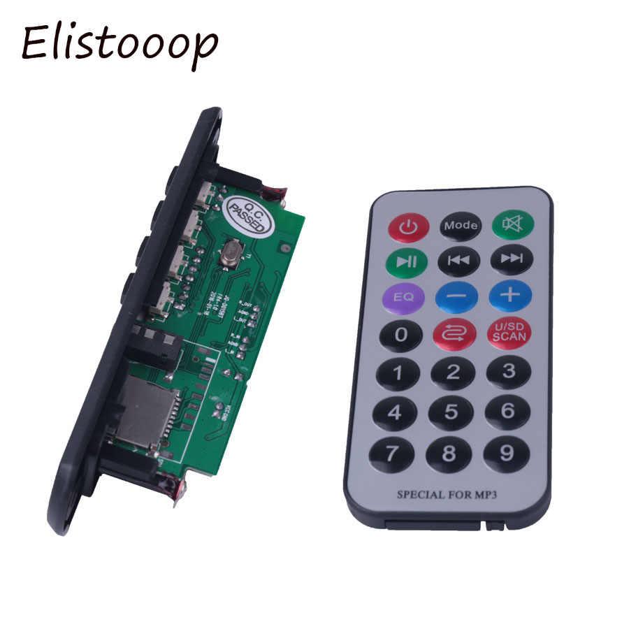 Elistooop Drahtlose Bluetooth 12V MP3 WMA Decoder Board Audio Modul USB TF Radio Für Auto zubehör