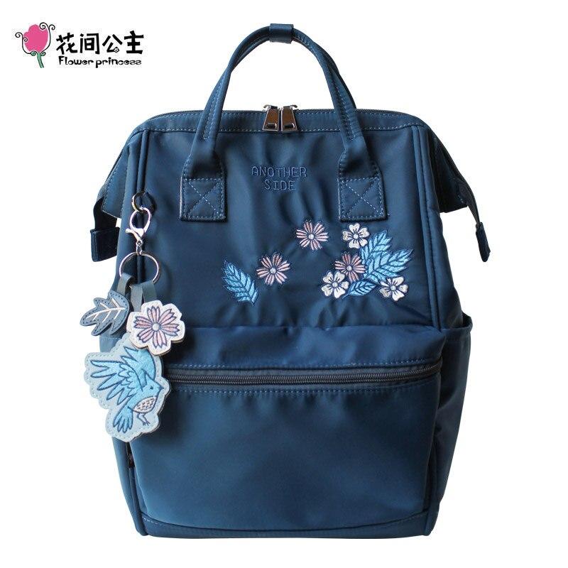 Fleur princesse sacs à dos femme ornements femme école sac à dos sacs d'école pour adolescentes voyage décontracté Nylon femmes sac