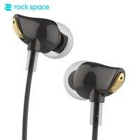 ROCKSPACE Zircon Stereo Earphone In Ear Headphone Noise Cancelling Running Earphone With Mic For Iphone 6
