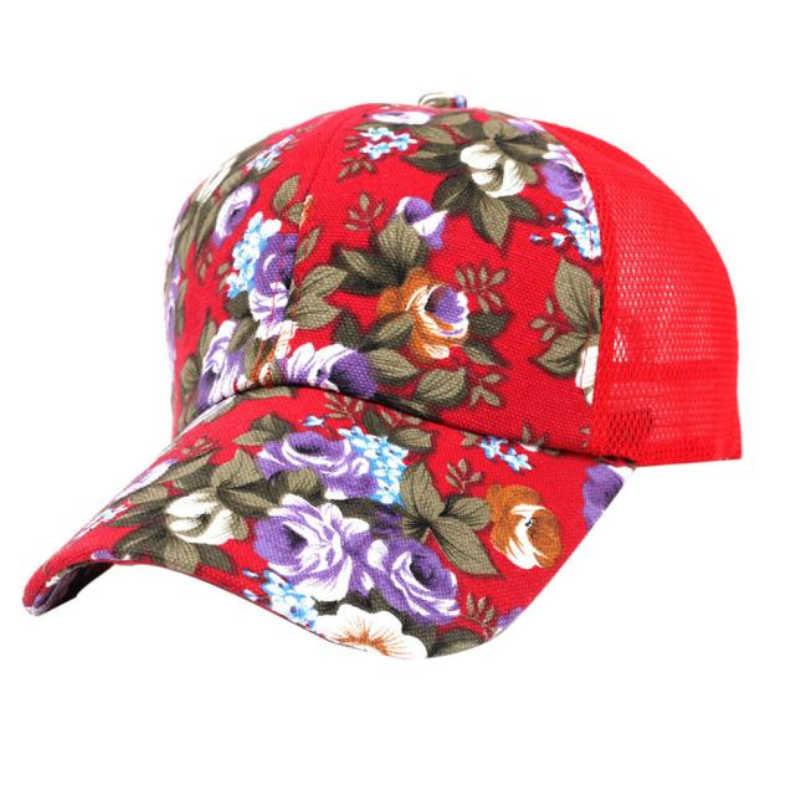 女性蝶の花刺繍キャップの女性のガール日帽子カジュアルスナップバック女性野球キャップ