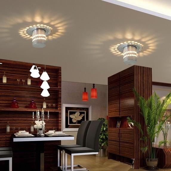Colorpai 3 W Moda Moderna Sala De Estar Teto Iluminação Home Lâmpada De  Parede Warm White