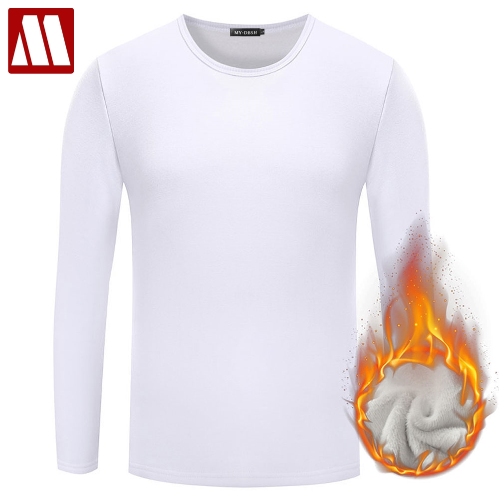 MYDBSH Cotton T shirt Long Sleeve Mens T-shirt Male Tee
