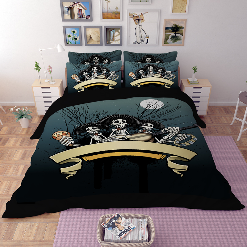 3pcs Bedding Set Cool Unique Skull Sets Single Bed Queen Super King Size Duvet Cover Comforter In From Home Garden On