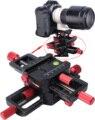 150mm cabeça 4-way macro focando rail slider com arca-swiss fit braçadeira prato de liberação rápida para tripé ballhead canon sony camera