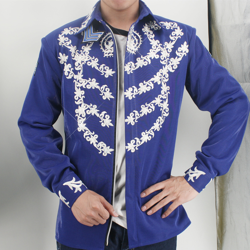 Rare MJ Michael Jackson This is it Blue 50TH BIRTHDAY Printing Crystal  JACKET Outerwear-in Jackets from Men s Clothing on Aliexpress.com  672a9ef019ae