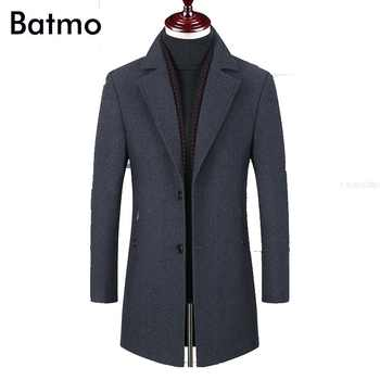 BATMO 2019 new arrival winter high quality wool thicked trench coat men,men's gray wool jackets ,plus-size M-6XL,1828 - DISCOUNT ITEM  40% OFF All Category