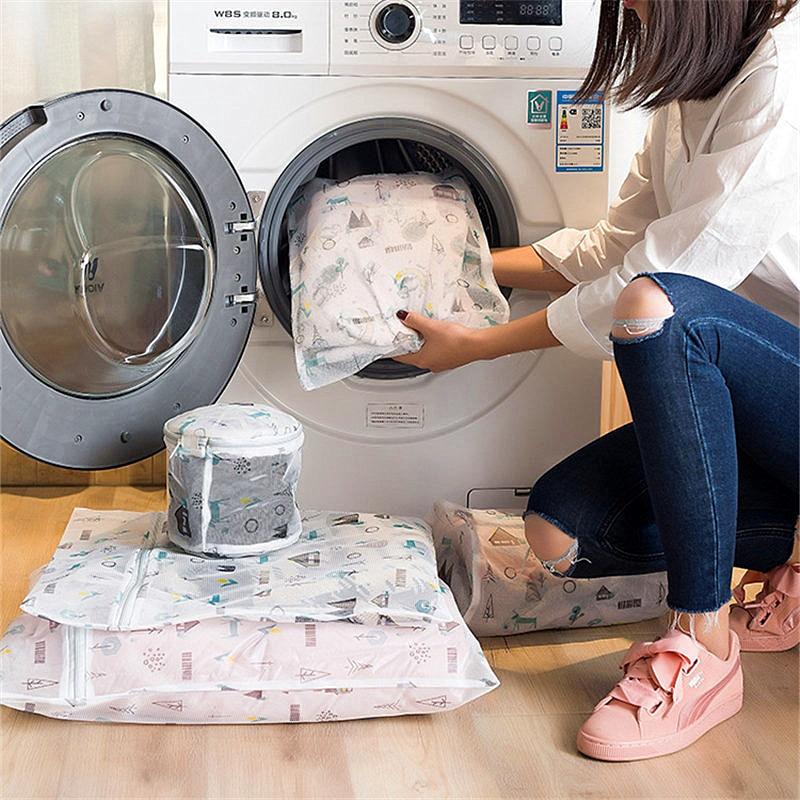 5 Sizes Washing Laundry Bag Mesh Underwear Clothing Wash Organizer Protective Washing Bags For Bra Socks Clothes Wash Bag Travel