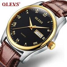 De haute Qualité Montre Hommes Ultra Mince Quartz Date Horloge Montre-Bracelet En Cuir Mâle Étanche Affichage Montre Or Rose montre hommes