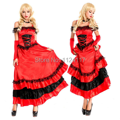 Adult Spanish Gypsy Flamenco Cosplay Costume Sexy Halloween Costumes for Women Long Dress Carnival Costumes Fancy  sc 1 st  AliExpress.com & Adult Spanish Gypsy Flamenco Cosplay Costume Sexy Halloween Costumes ...