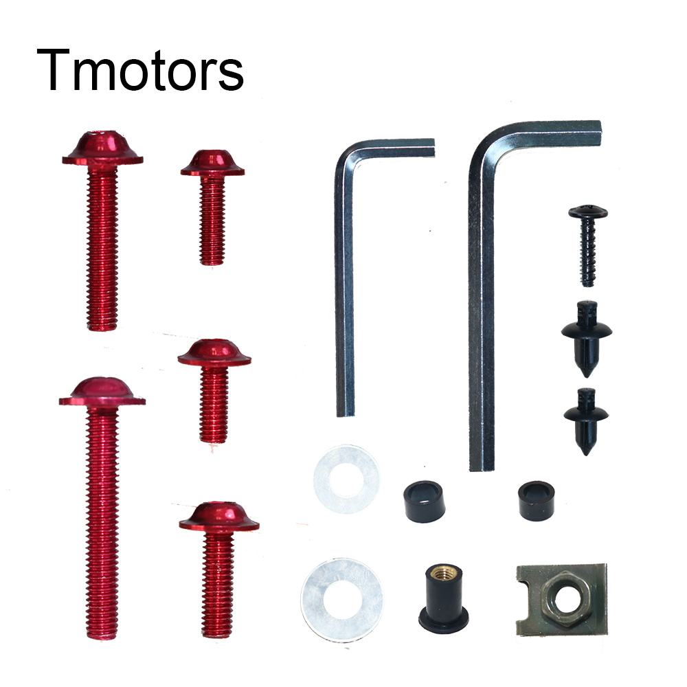 Motorcycle Windscreen Windshield 5mm Black Dome Bolt Kit x8 Washers Bolts Nuts