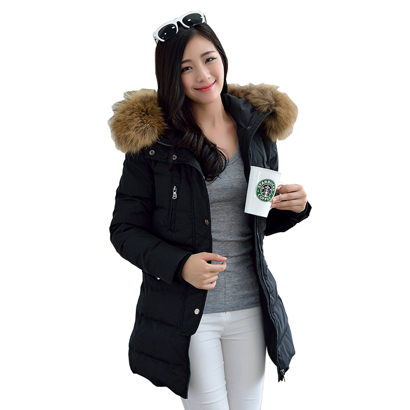 2017 new winter jacket women thickening coat hooded medium-long duck down parka outwear casual overcoat CC298 new 2015 autumn winter outdoors medium long fleece jacket fur hooded army green parka men thickening coat 10