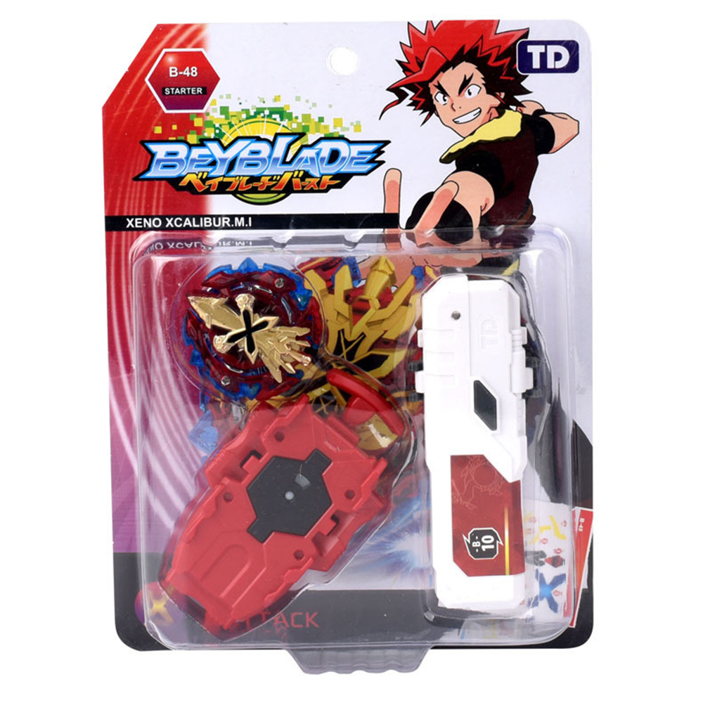 Beyblade Burst with Launcher and Grip Explosive Single Combat Alloy Assembly Toy Children Desktop Toy Single Gyro TD09A55