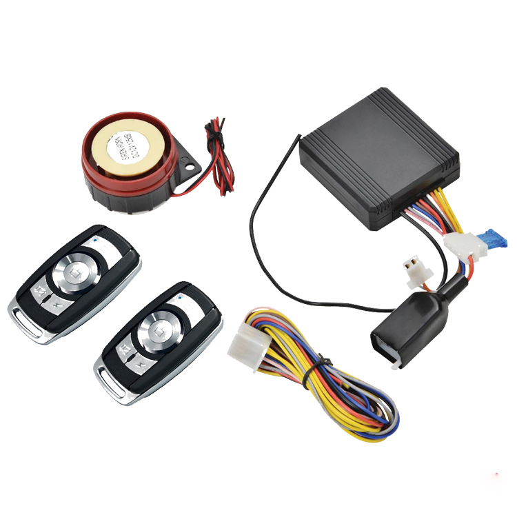 Motorbike Alarm System Remote Auto Vehicle Security For Yamaha Start System Entry Alarm Siren With 2 Remote Control PKE Start