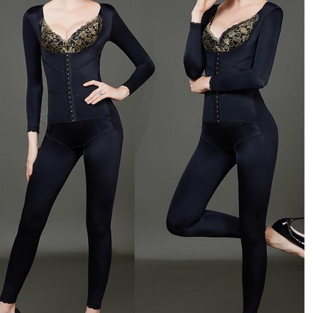 5d58bf547 Long Sleeved Full Body Shaper Magic Slimming Bodysuits Building Underwear  Ladies Shapewear Slimming Suits Pants Legs Body Shaper