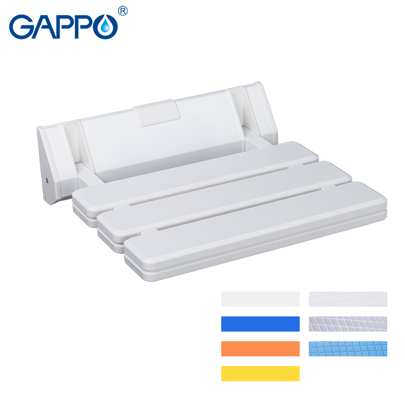 Gappo Wall Mounted Shower Seats Folding Waiting Chairs Bench Relax Chair Shower Seats Bathroom Stool Cadeira Bathroom Safety & Accessories