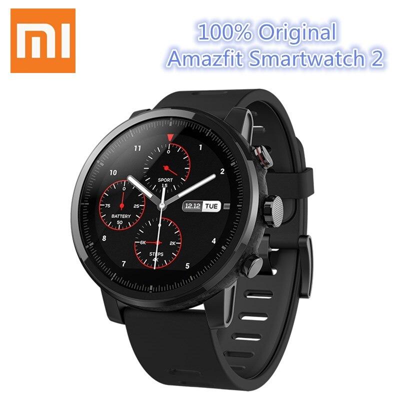 Galleria fotografica Xiaomi Amazfit <font><b>Smartwatch</b></font> 2 Orologio In Esecuzione GPS Xiaomi Chip di Pagamento Alipay Bluetooth 4.2 Bidirezionale per iOS/Android Cellulari
