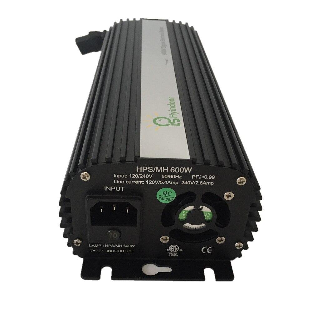 Numérique 600 w UE PLUG Ballasts pour planteur de jardin lampe horticole HPS MH Ampoules - 3