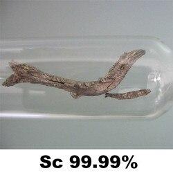 Scandium ziemia rzadka Sc w napełnianiu gazem argonowym szkło Metal Elemental 4N destylacja 99.99% wysokość czystość 1g do zbierania elementów w Części do narzędzi od Narzędzia na