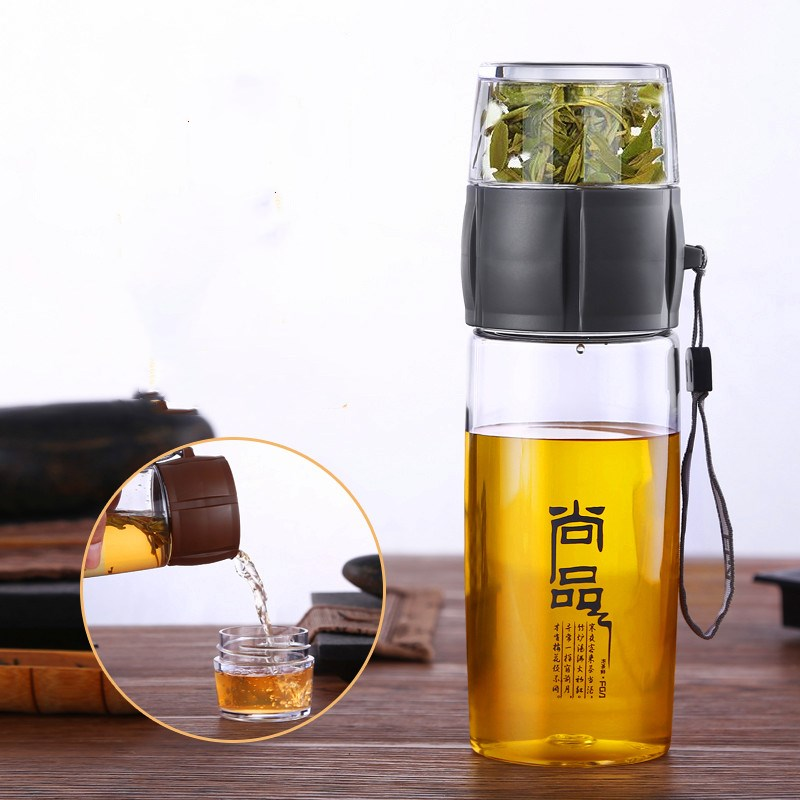 Portable 400ML Tea Infuser Bottle Plastic Water Bottle Chinese Tea Strainers Tea-pot Heat-Resistan Outdoor Travel Kung Fu Teapot