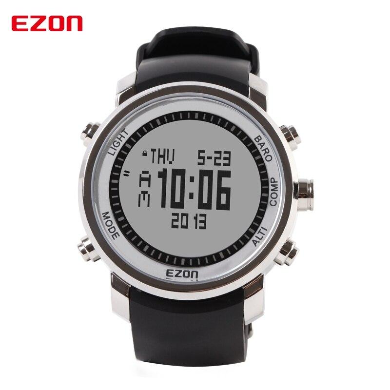 b1e823da6a2 EZON marca reloj de los hombres a prueba de agua Digital altímetro barómetro  termómetro Deporte Militar