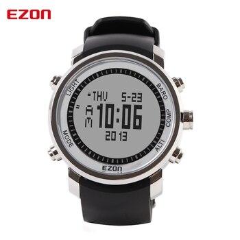 f0df56bd002 EZON marca reloj de los hombres a prueba de agua Digital altímetro barómetro  termómetro Deporte Militar reloj de pulsera reloj Saat reloj Masculino