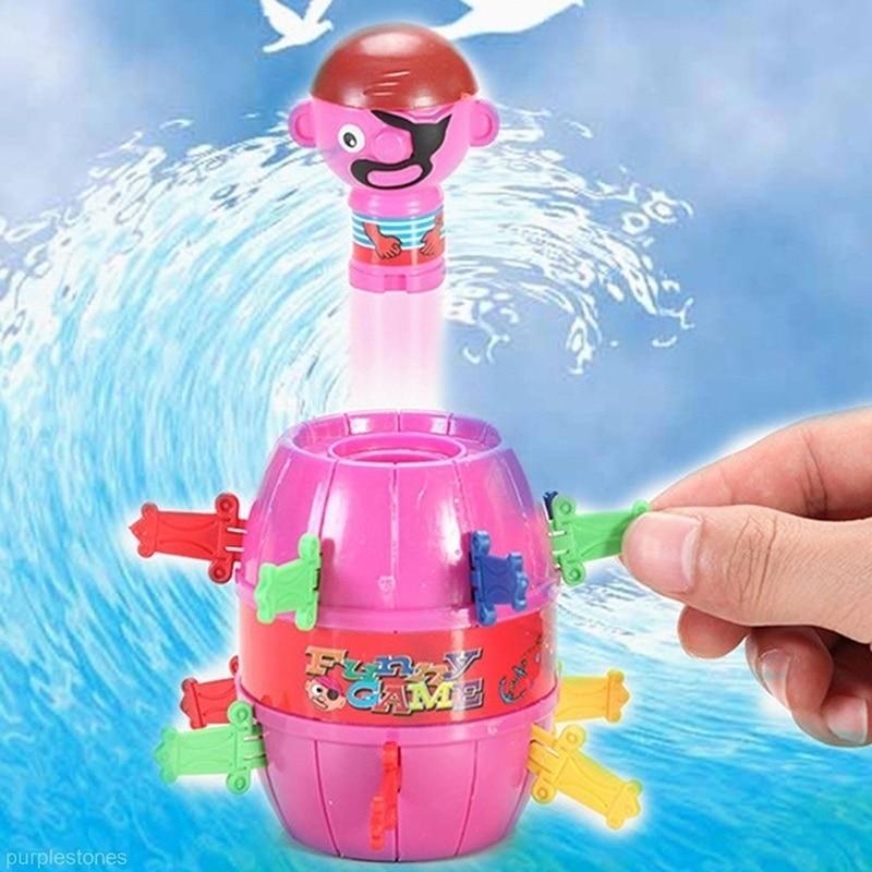Kids Children Novelty Funny Gadget Jokes Tricky Pirate Barrel Game Desktop Toys Halloween Christmas holiday gifts