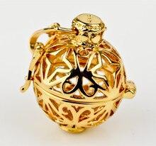 Jaula de cobre Locket colgante con colorida bola de la armonía de sonar Chime colgante para mujeres embarazadas H215-20