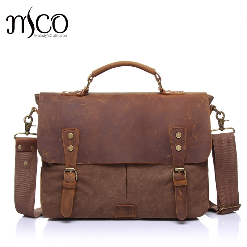 MCO 2018 Vintage Waterproof Waxed Canvas Men Travel Messenger Bags Basic Business Laptop Handbag Military Male Crossbody Bag цена 2017