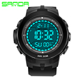 Relogio masculino 2017 Relojes Digitales hombres deportes 50 M Impermeable militar de Cuarzo dial grande relojes Luminosos Reloj Masculino