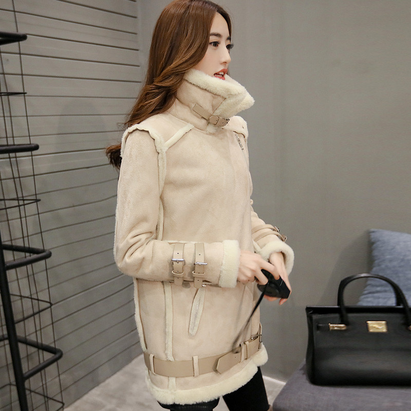 Womens Winter Jackets Lambs Wool Cotton-Padded Jackets Coats Clothes Female Warm Fashion Thick Parkas Abrigos Mujer Tops C1672 перчатки marco bonne перчатки женские с эффектом touch screen