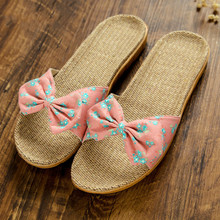 New Home Slipper Flax Slippers House Indoor Outdoor Non-slip Linen Slippers Ladies Slippers Lady Shoes цена 2017