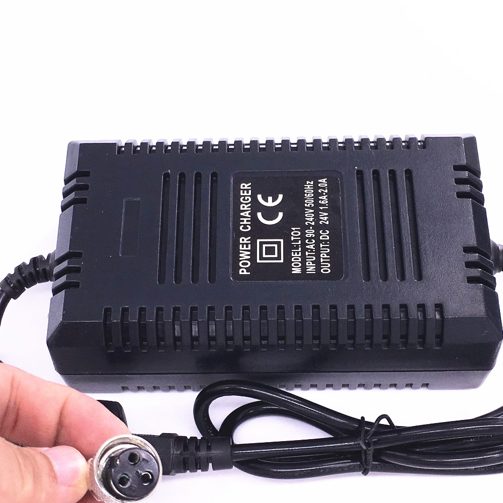 High Quality 24V Smart Charger Lead Acid Battery Electric Scooter Power Adapter E-scooter Charger DC27 6V 1 8A With EU Plug