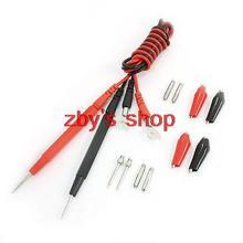 Multimeter Pen Alligator Clip Banana Plug Test Probe Fork Cable Kit 3ft 16 in 1