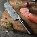 XINZUO 7 дюймов Nakiri Pro нож из нержавеющей стали 67 слоев дамасской стали кухонный нож Новый кухонный нож фирменный нож для овощей