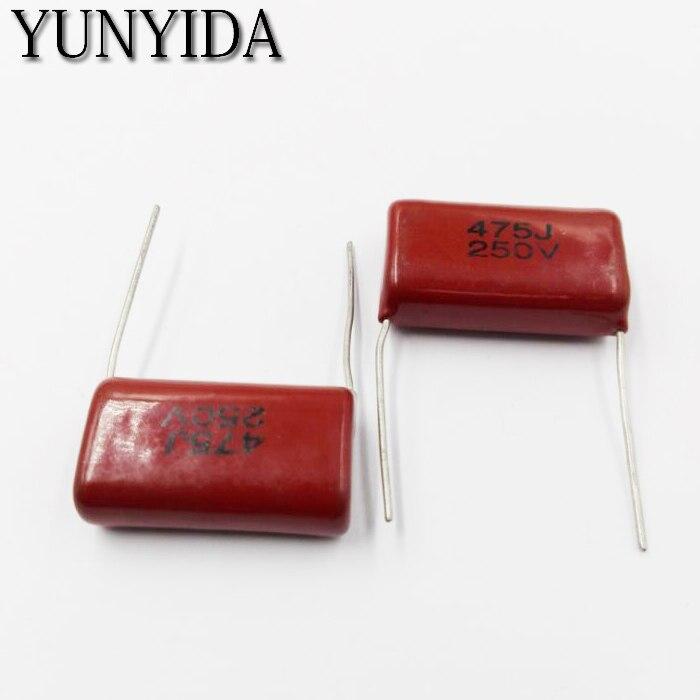 10pcs CBB Polypropylene film capacitor 250V  475J 106K 106J 225J 105J 684J 474K 104J