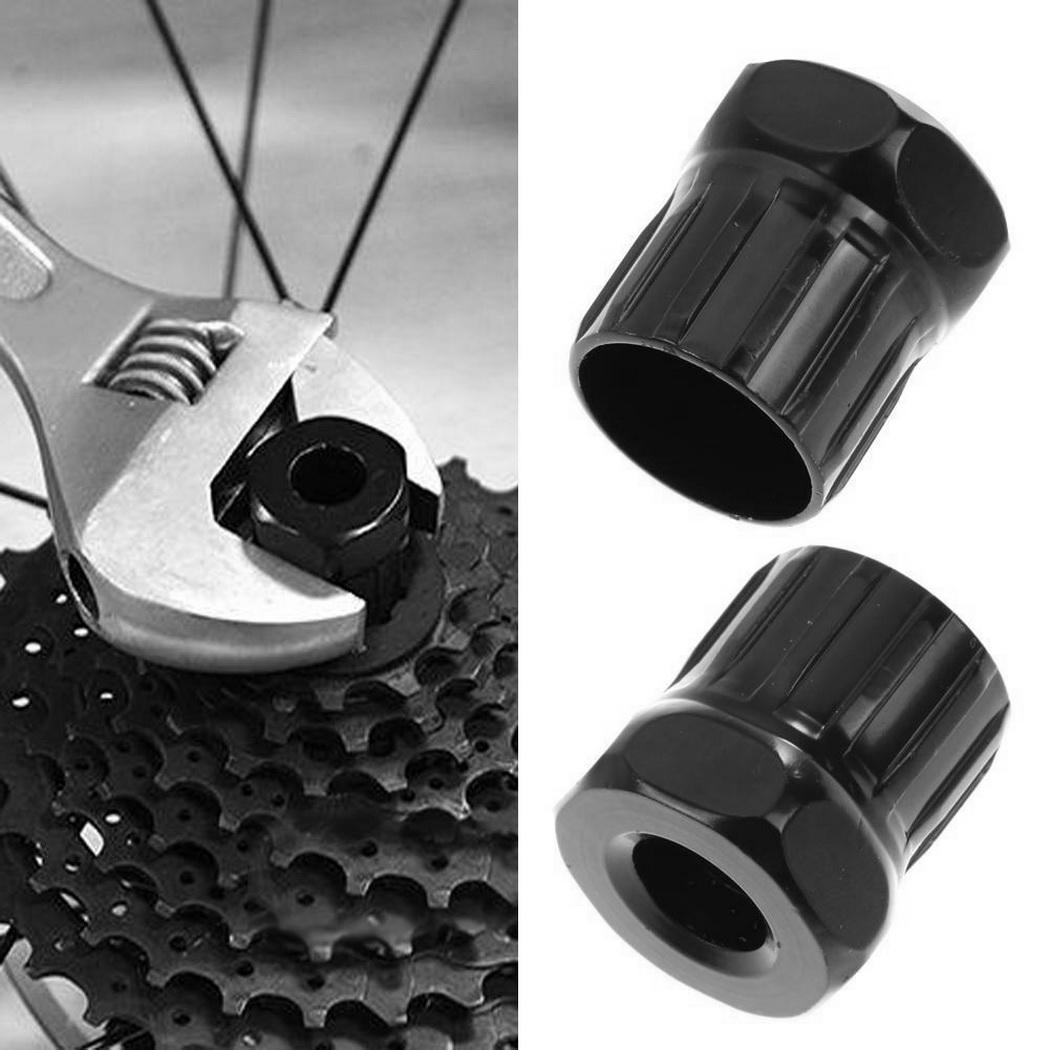 Mountain Bike Freewheel Lock Ring Cassette Remover Maintenance Black Tool Screw-shaped 20mm/0.79inch