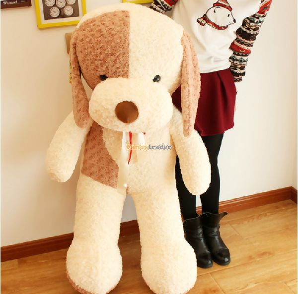 Fancytrader 47'' / 120cm Cute Stuffed Soft Plush Giant Animal Dog Toy,  2 Colors Available, Free Shipping FT50373 fancytrader 2015 new 20 50cm lovely stuffed soft plush giant cute animal eagle toy great gift free shipping ft50750