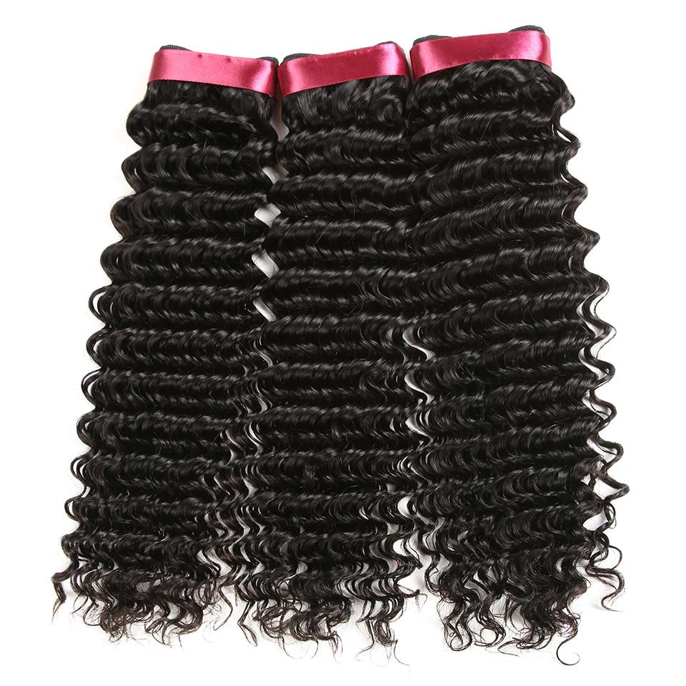 Karizma mélyhullámú brazil haj 100% -os emberi hajszöveti csomag - Emberi haj (fekete) - Fénykép 6