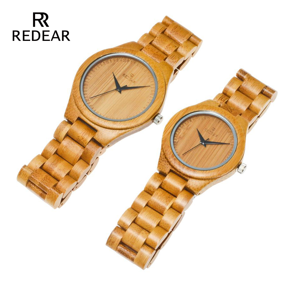 REDEAR Bamboo Lover's Watches Timepieces Wood Band Quartz Polshorloge - Dameshorloges - Foto 5