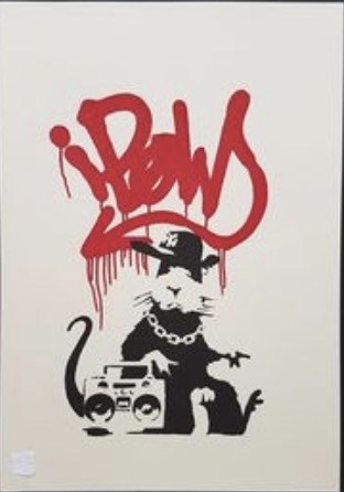 Gangsta Rat 2004 Banksy Street Art Decorative Kraft Poster Canvas Painting Wall Sticker Home Decor Gift image
