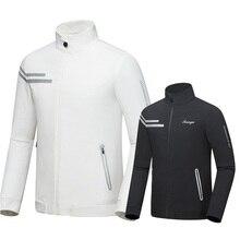 Мужские осенне-зимние куртки с длинными рукавами для гольфа, мужские ветронепроницаемые дышащие ветровки на молнии для гольфа D0656